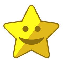 Icono estrella con simbolo alegria