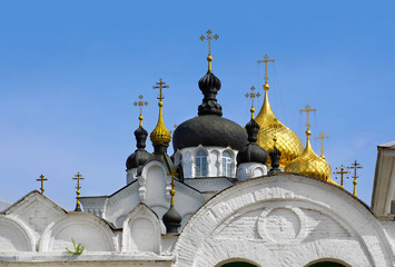 Theophany Convent,  Bogoyavlensky cathedral  in Kostroma,Russia