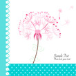 Floral dandelion vector greeting card