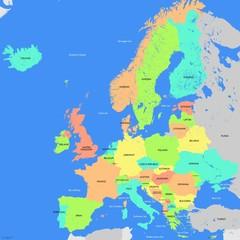 Europe map detailed