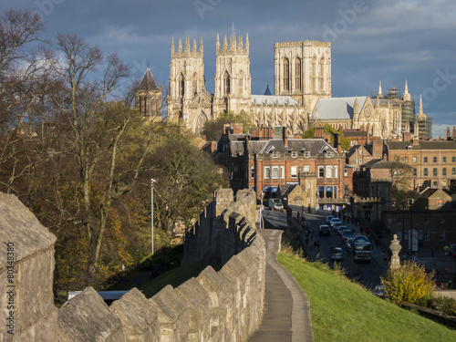 York Minster and City Wall - 80348380