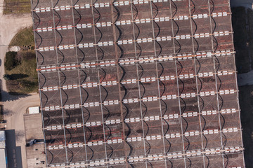 aerial view of the factory roof top