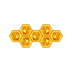 Illustration of origami honeycomb