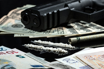 Illegal drugs , money and guns