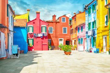 Houses Burano Italy