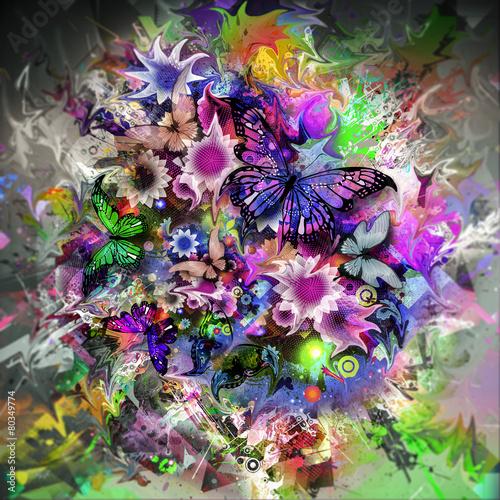 фон с цветами - 80349774