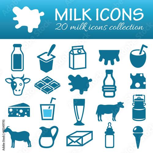 milk icons - 80349793