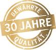 Siegel 30 Jahre Bewährte Qualität - 80350375
