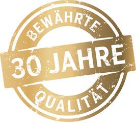Siegel 30 Jahre Bewährte Qualität