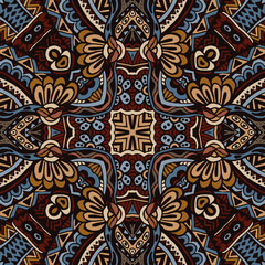 Vector  Ethnic Tribal Seamless Pattern