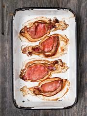tray of baked bacon