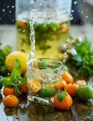 Citrus lemonade with splashes