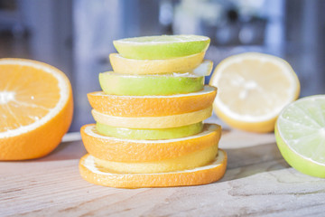 Pile of citrus fruits