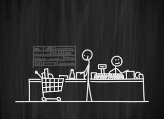 tafel mk supermarktkasse II