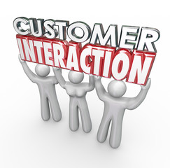Customer Interaction 3d Words Clients Engagement Involvement