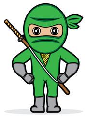 a cartoon illustration of a ninja
