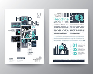 Poster Brochure Flyer design Layout vector template