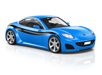 Super Car Elegant Automobile Contemporary Transportation Concept