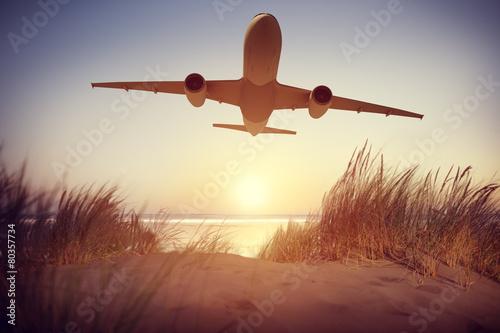 Airplane Travel Destination Outdoors Concept - 80357734