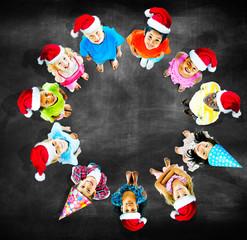Children Kids Cheerful Childhood Diversity Concept
