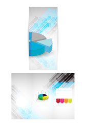 tri-fold brochure/flyer design with numbers & info-graphics
