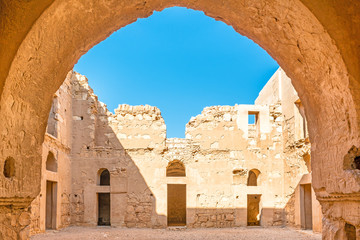 Qasr Kharana in present-day eastern Jordan