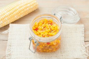 homemade sweet corn and peppers