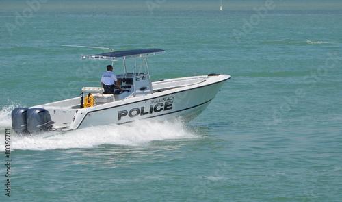 Police Patrol Boat - 80359701