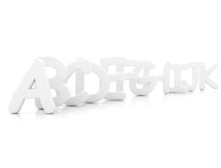 letters 3d rendered