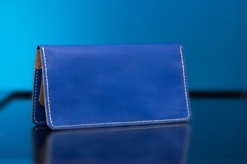 Blue woman clutch bag