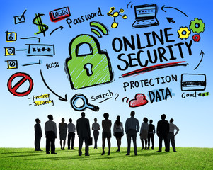 Online Security Protection Internet Safety Business Aspiration