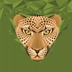 Portrait of a leopard vector illustration