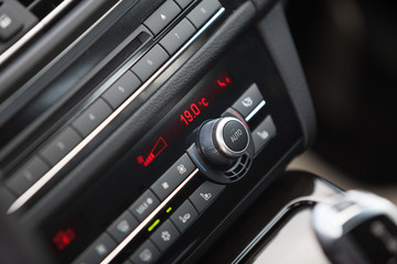 Conditioner and air flow control in a car, close up photo