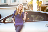 Fototapety Woman car