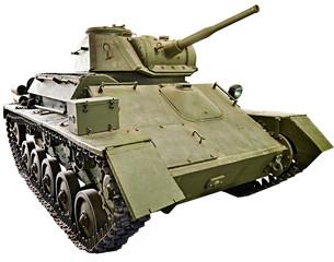 Soviet light tank T-80 isolated