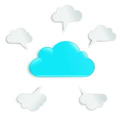 clouds in a circle