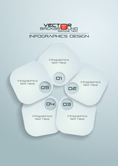 White Rounded Rectangle Infographics Design