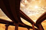 Summer highway crossroads, warm toned - 80364935