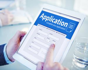 Application Human Resources Job Recruitment Employment Concept