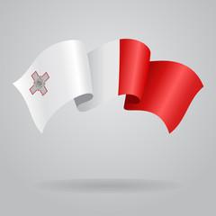 Maltese waving Flag. Vector illustration