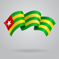 Togolese waving Flag. Vector illustration