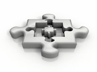 the small and large puzzle
