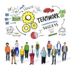 Teamwork Team Together Collaboration Diversity Group Concept