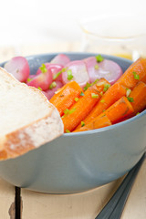 steamed  root vegetable on a bowl
