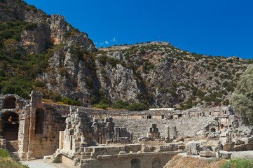 Ancient town in Myra Turkey