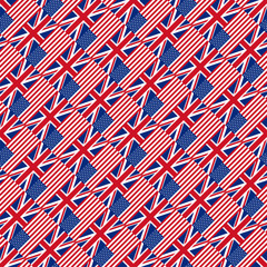 Seamless pattern with flags. Vector illustration.