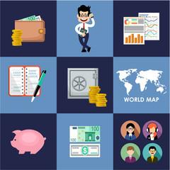Finance & banking set