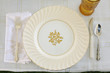 Classical Table Setting with Vintage China - 80368362