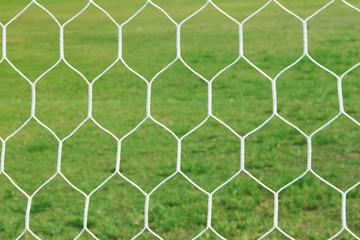 Abstract soccer goal net