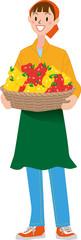 収穫 パプリカ